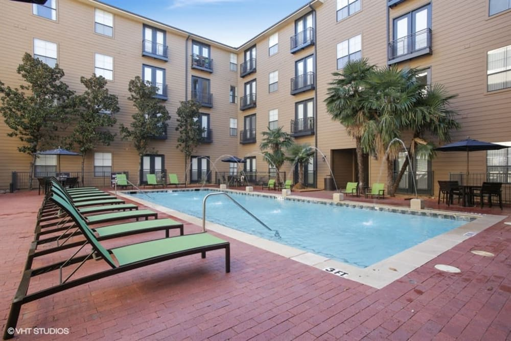 K Avenue Station offers a luxury swimming pool in Plano, Texas