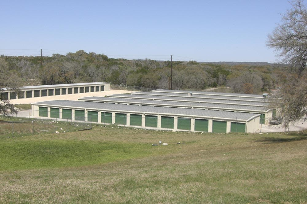Exterior view of Ranch Road Self Storage in San Marcos, Texas