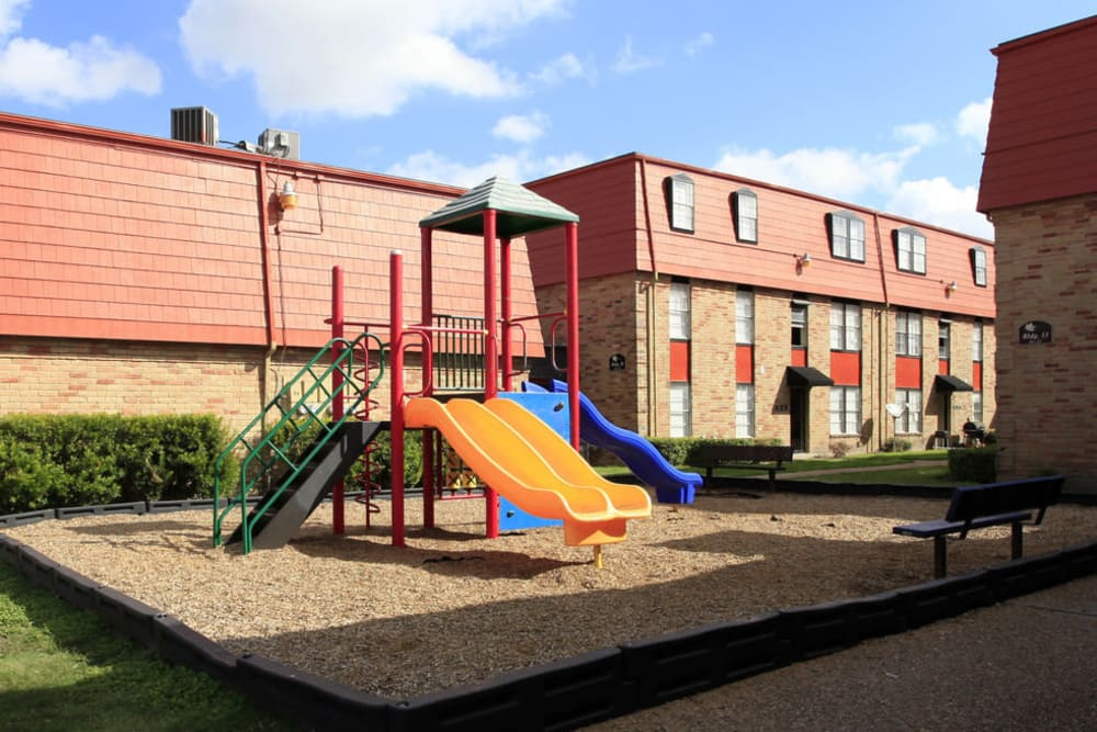 Playground at Maple Trail Apartments & Townhomes in Pasadena, Texas