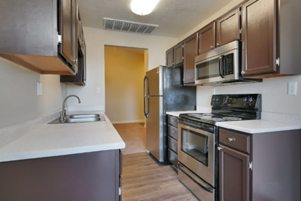 Kitchen at Renaissance Apartment Homes in Phoenix, AZ
