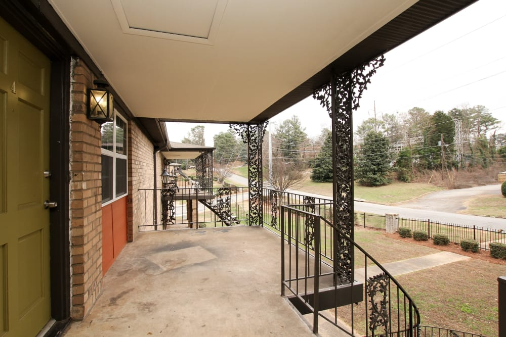 Balcony at Alturas Embry Hills in Doraville, Georgia