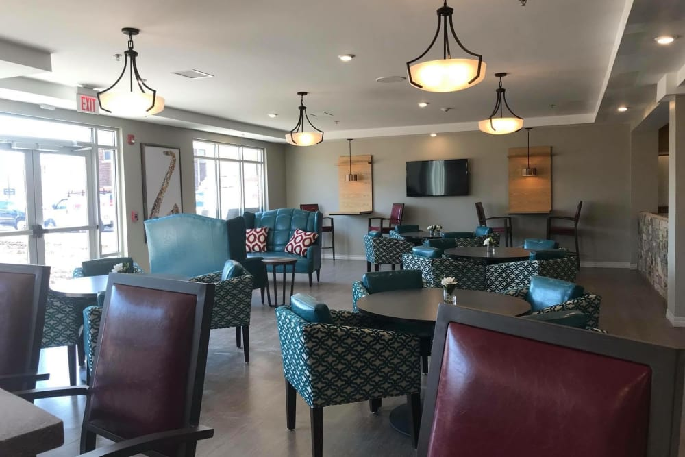 Common room at Arcadia Senior Living Clarksville in Clarksville, Tennessee