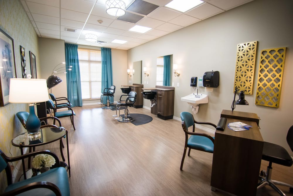Spa & salon at Arcadia Senior Living Clarksville in Clarksville, Tennessee