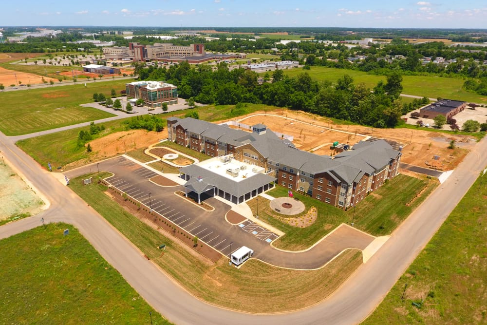 Aerial view of Arcadia Senior Living Clarksville in Clarksville, TN