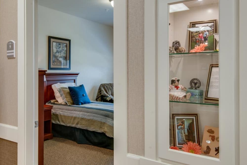 Single bedroom at Capetown Senior Living in Cape Girardeau, Missouri
