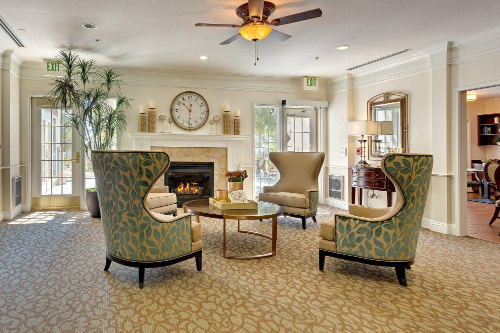 Beautiful living room at Heritage Springs in Las Vegas, NV