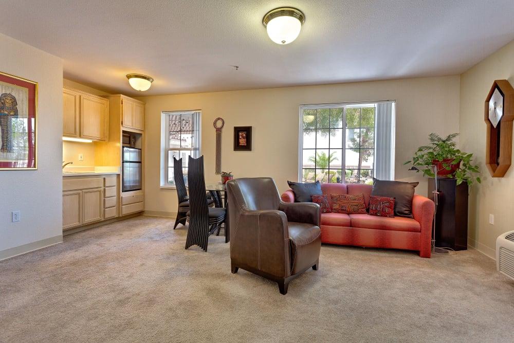Cozy living room at Heritage Springs in Las Vegas, NV