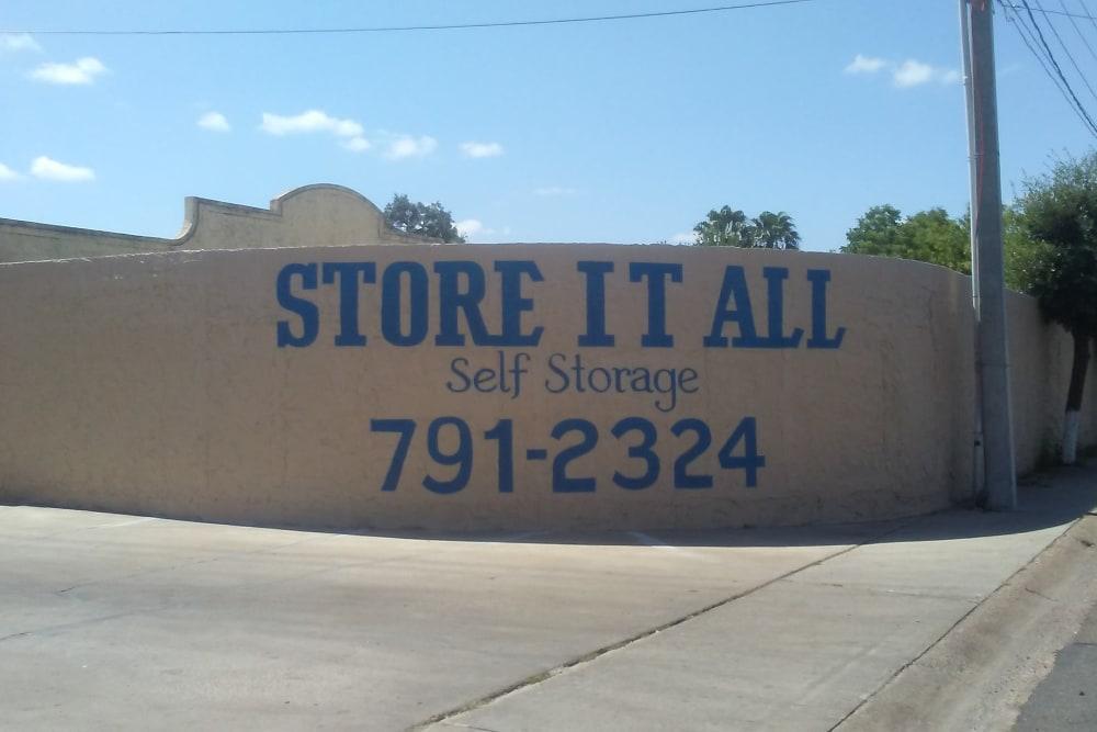 Signage at Store It All Self Storage - Del Norte in Laredo, TX