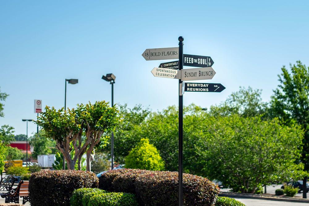 Signs at Haddon Place in McDonough, Georgia