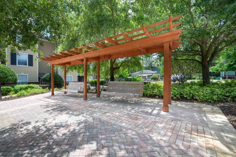 Rest area at Integra Landings in Orange City, Florida