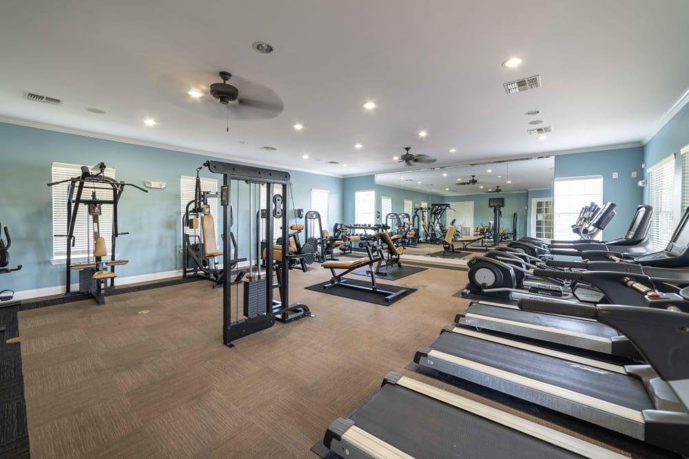 Fitness center at Integra Landings in Orange City, Florida