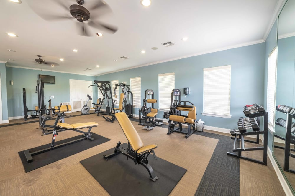 Renovated fitness center at Integra Landings in Orange City, Florida