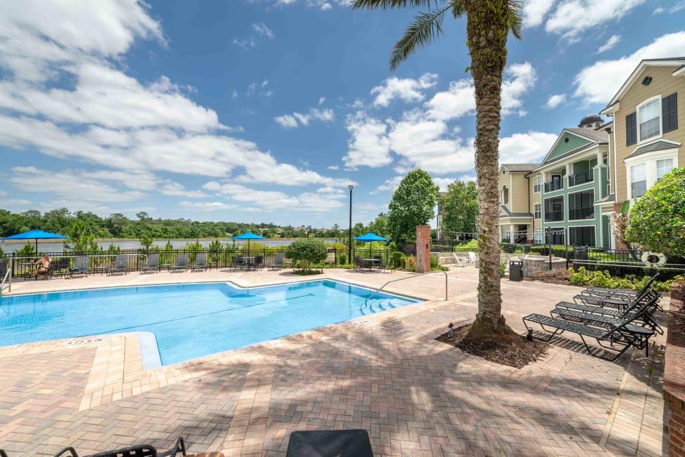 Renovated swimming pool at Integra Landings in Orange City, Florida