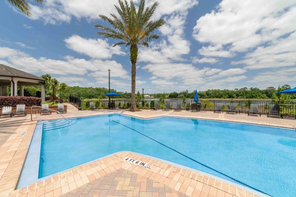 Swimming pool at apartments in Orange City, Florida
