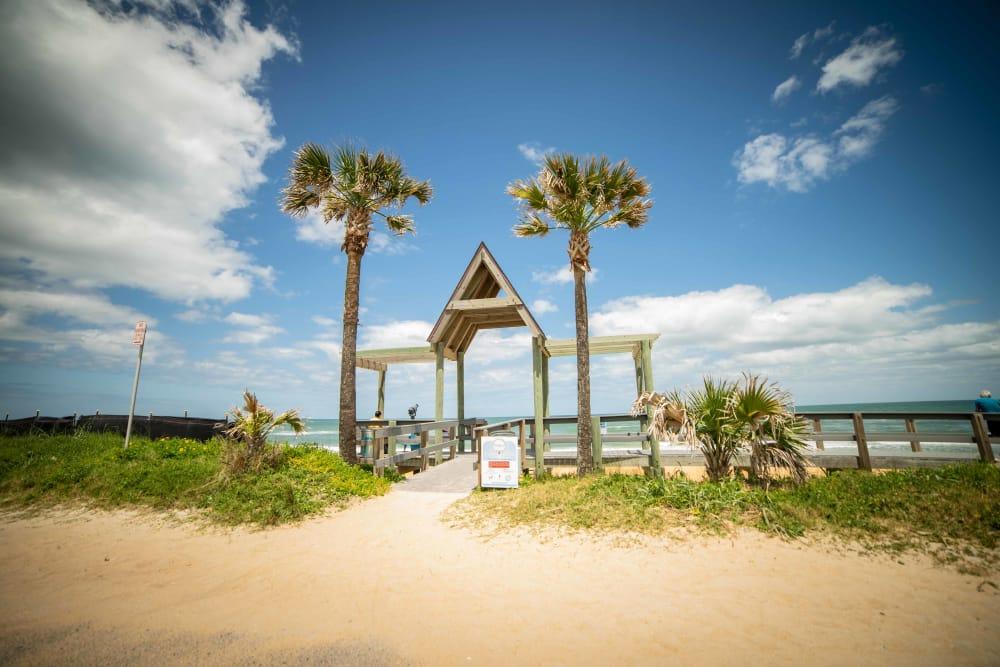 Beach's entry near at Integra Woods in Palm Coast, Florida