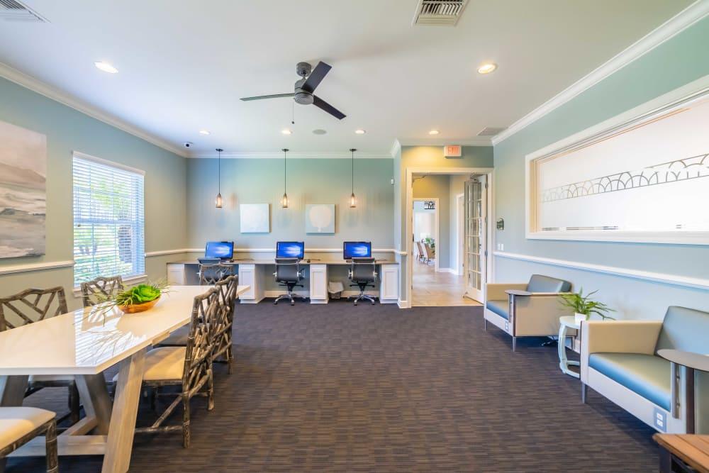Renovated business center at Integra Woods in Palm Coast, Florida