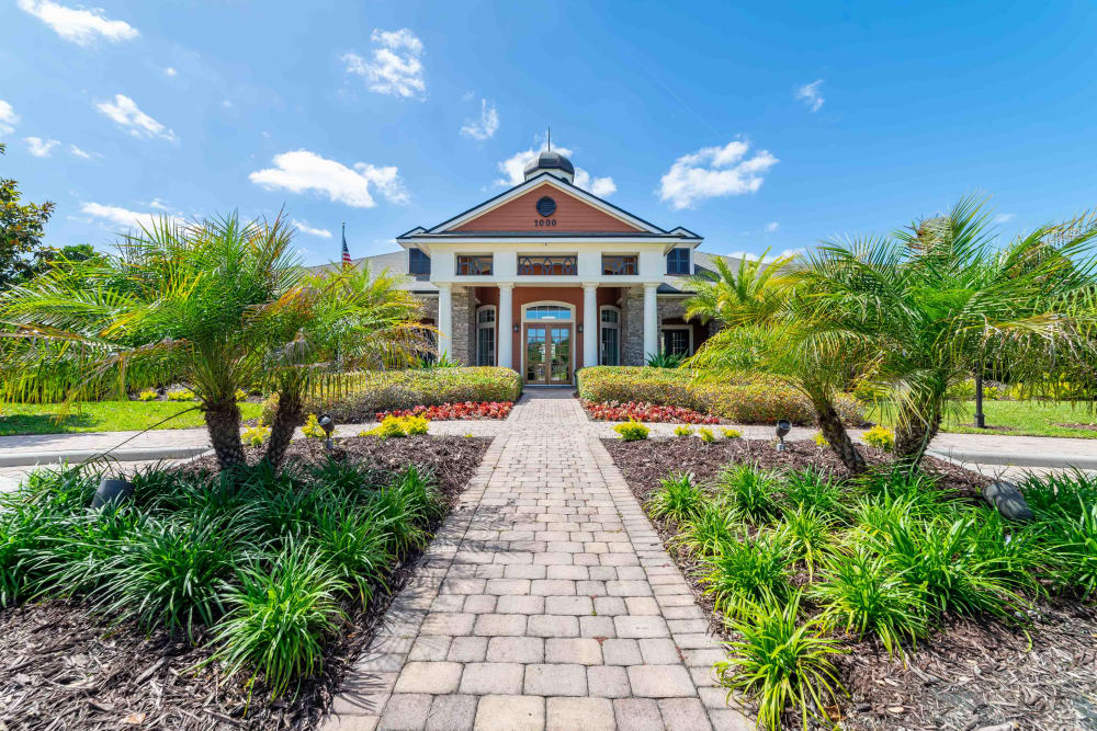Front entry at Integra Woods in Palm Coast, Florida