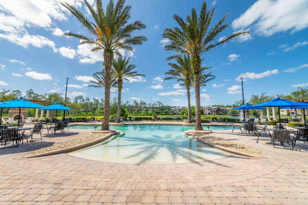 Pool view at Integra Woods in Palm Coast, Florida
