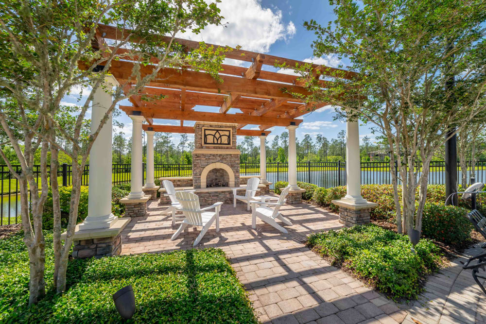 Back entry at Integra Woods in Palm Coast, Florida