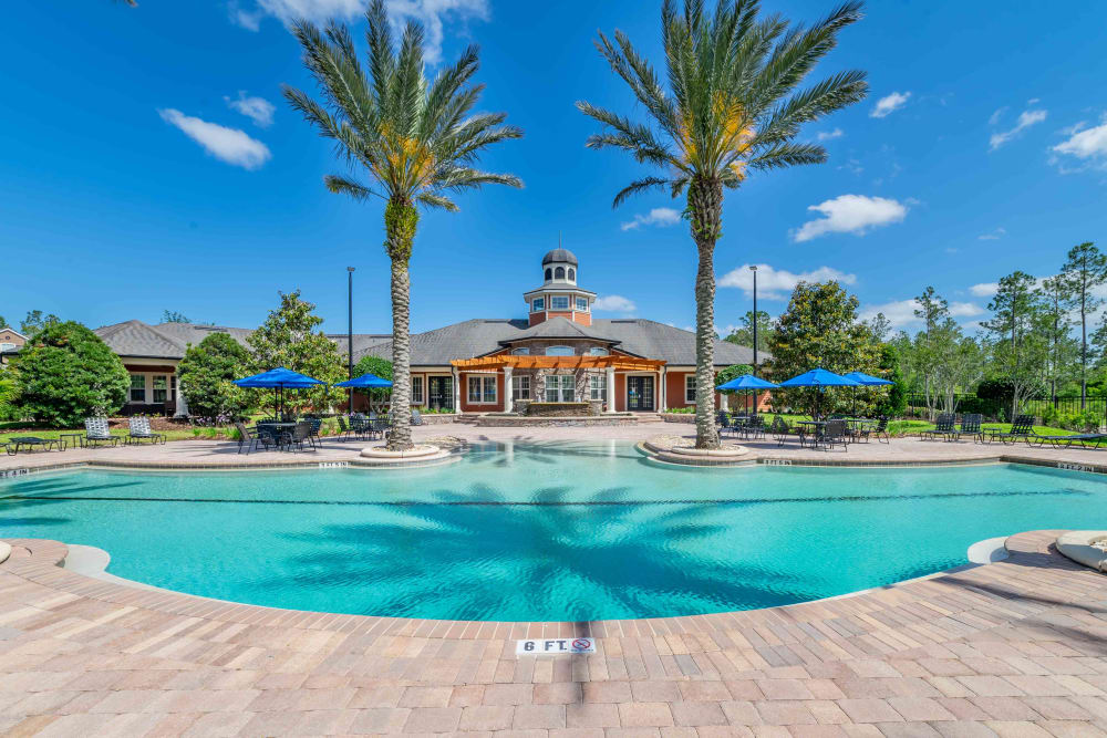 Renovated pool at Integra Woods in Palm Coast, Florida