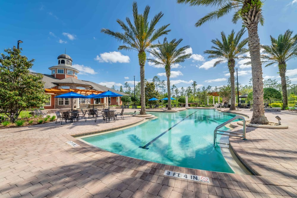 Great swimming pool at Integra Woods in Palm Coast, Florida