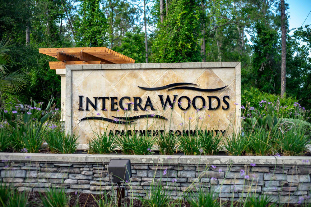 Integra Woods sign at Palm Coast in Florida