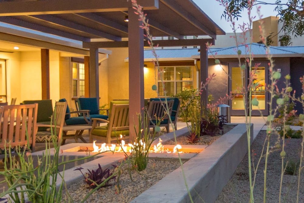Relax with a glass of wine with friends at Sage Desert in Tucson