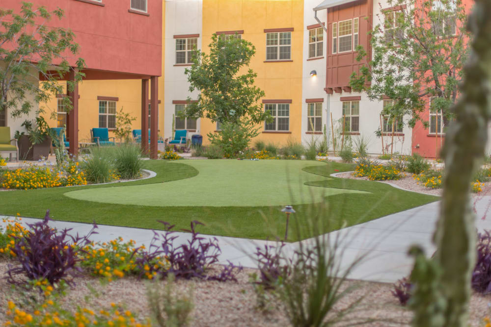 Private putting green at Sage Desert