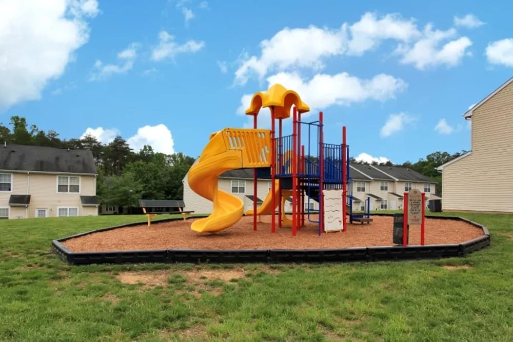 A large playground at Timber Ridge in Fredericksburg, Virginia