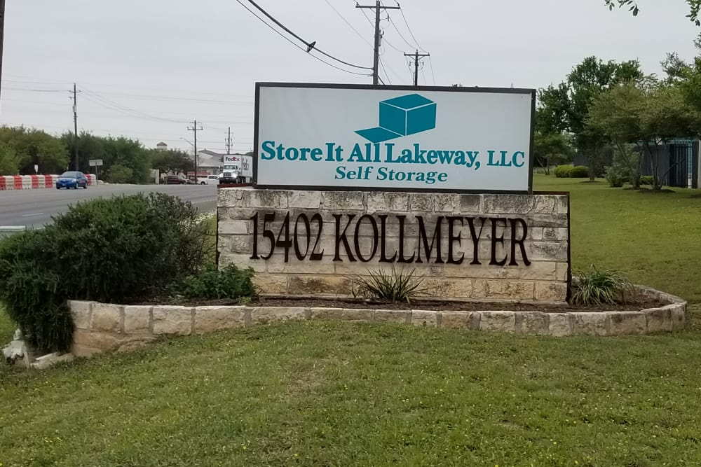 Signage at Store It All Self Storage - Lakeway in Lakeway, TX