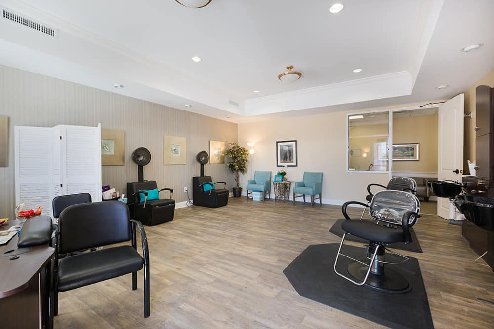 Hair salon at Anson Senior Living in Zionsville, Indiana