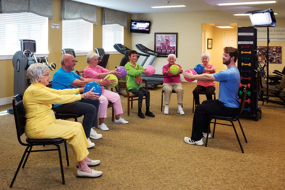 Anson Senior Living offers a fitness center in Zionsville, Indiana