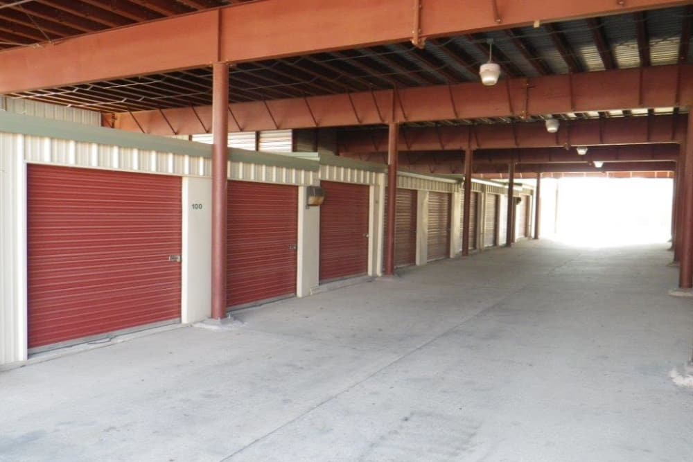 Exterior units at Store It All Self Storage - Westlake in Austin, TX