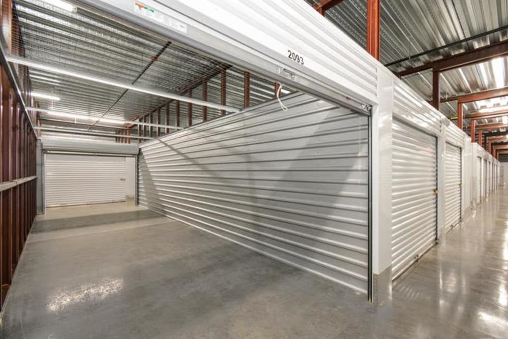 Interior Storage Units At Space Shop Self Storage In Cary, North Carolina