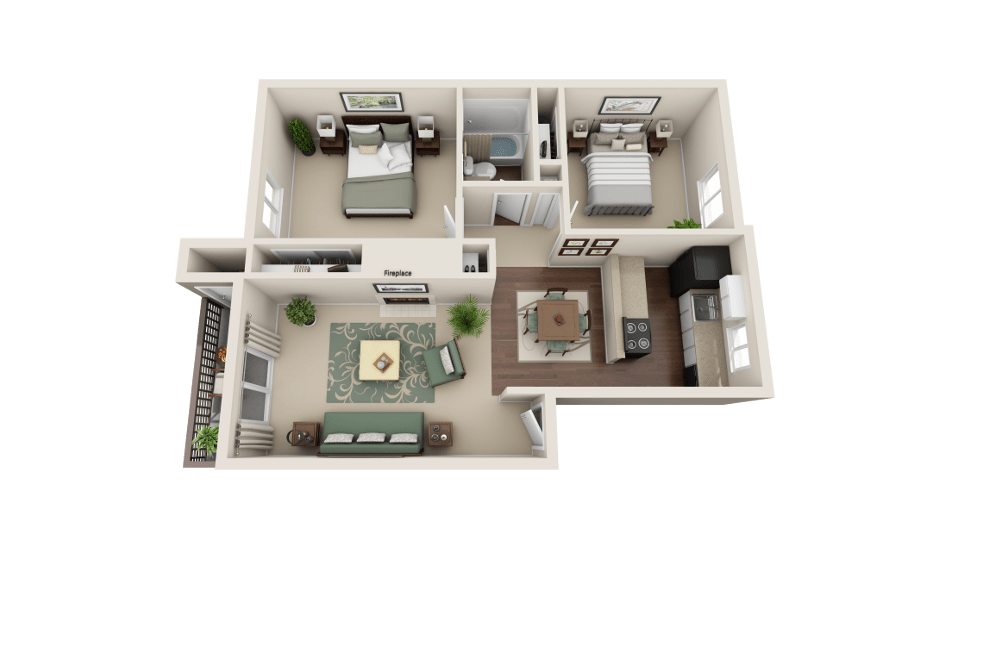 C floor plan at Copperstone Apartment Homes in Everett, WA