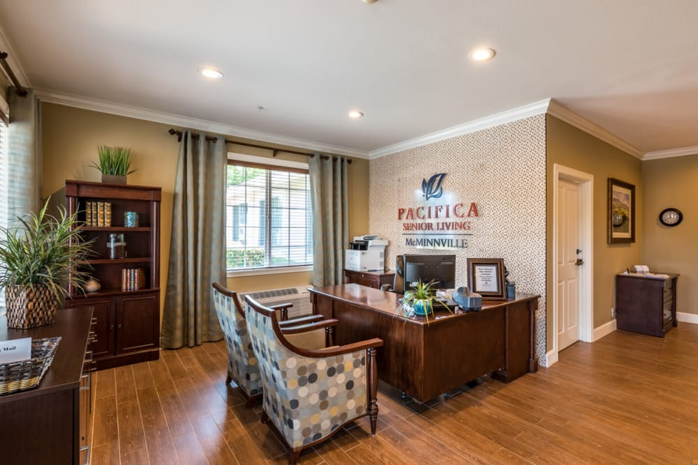 Reception at Pacifica Senior Living McMinnville in McMinnville, Oregon