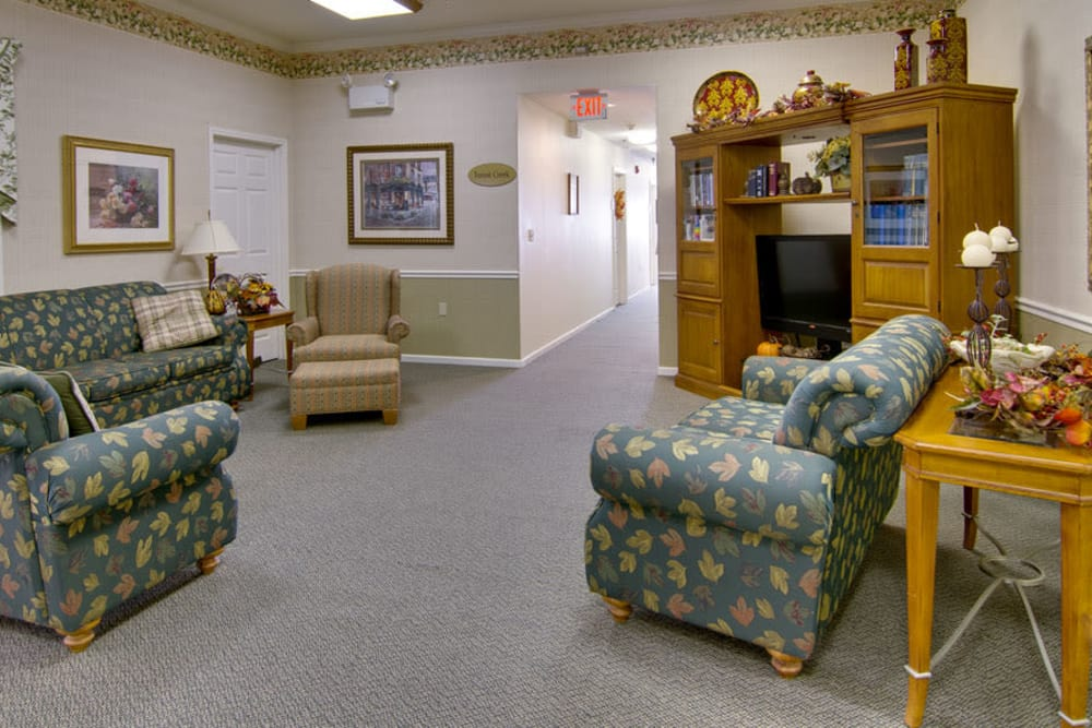 Tv area at Teal Lake Senior Living in Mexico, Missouri