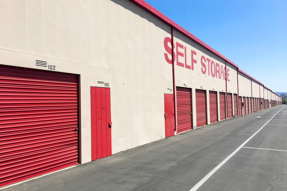 Exterior units at StorQuest Self Storage in Canoga Park