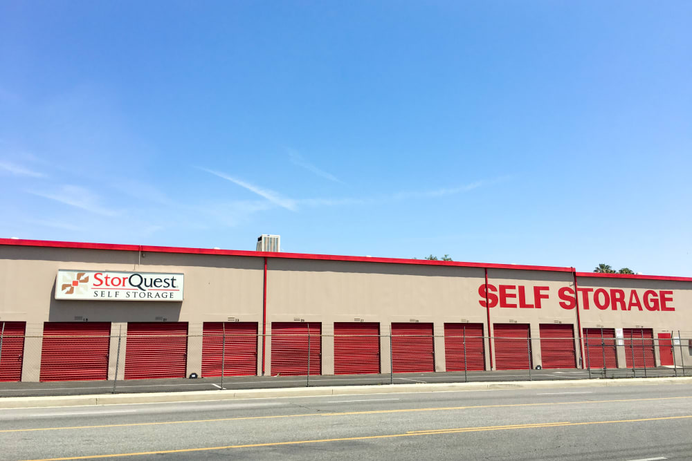 Exterior units of StorQuest Self Storage in Canoga Park