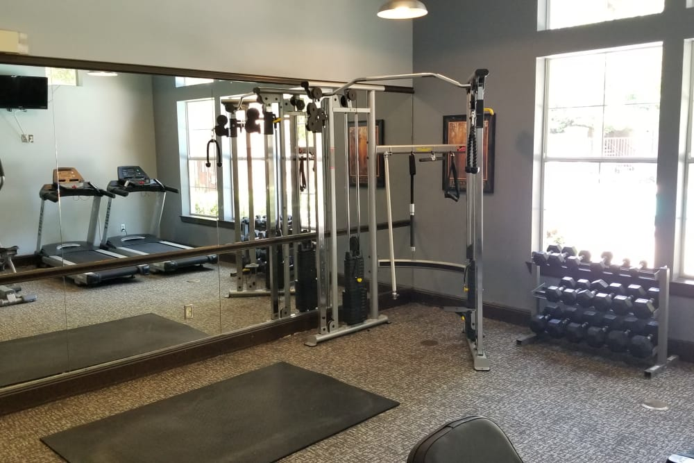 Fitness center at Alexis at Town East in Mesquite, TX