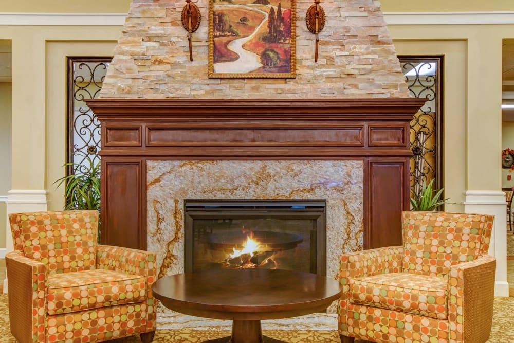 Beautiful fireplace at The Commons at Elk Grove in Elk Grove, California