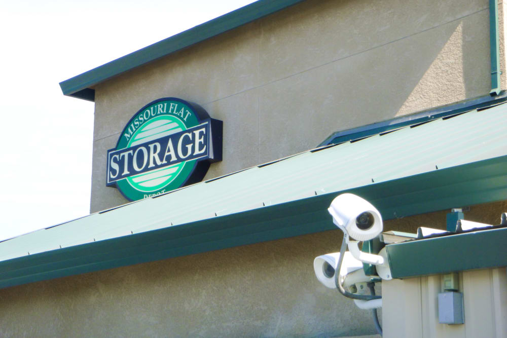 Signage at Missouri Flat Storage Depot in Placerville, CA