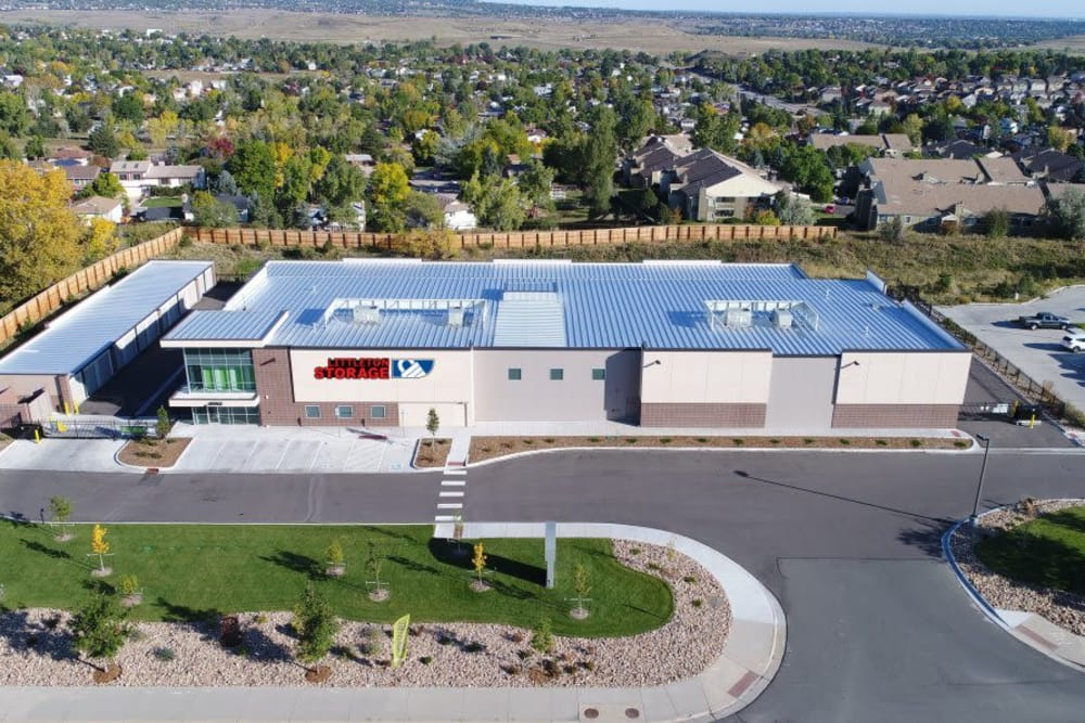 Alternative aerial view of Littleton Storage