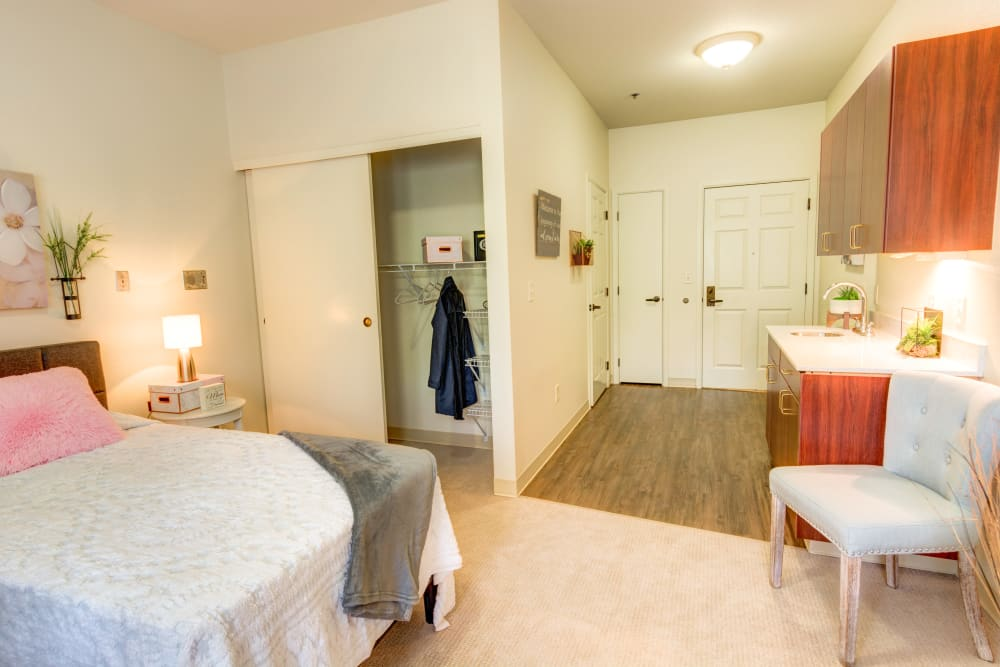 Private apartment at Harbour Pointe Senior Living