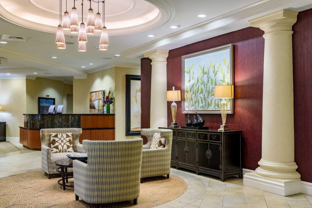 Living room at The Bellettini in Bellevue, Washington