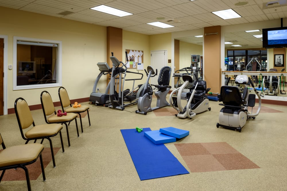 Fitness center at The Bellettini in Bellevue, Washington