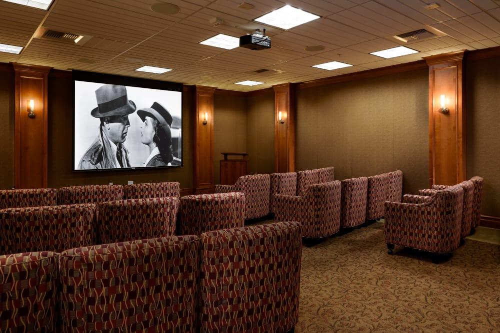 Movie theater at The Bellettini in Bellevue, Washington
