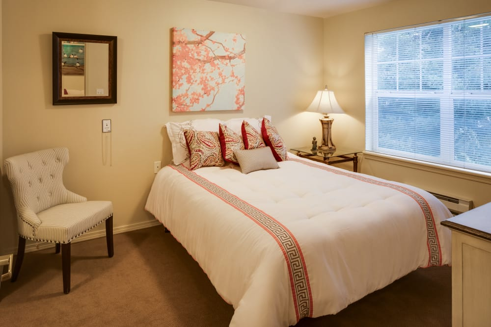 Bed at Dale Commons in Modesto, California