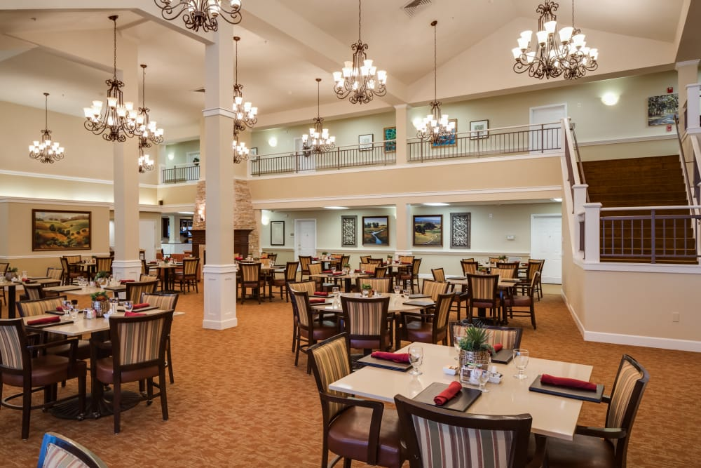 Dining area at Dale Commons in Modesto, California