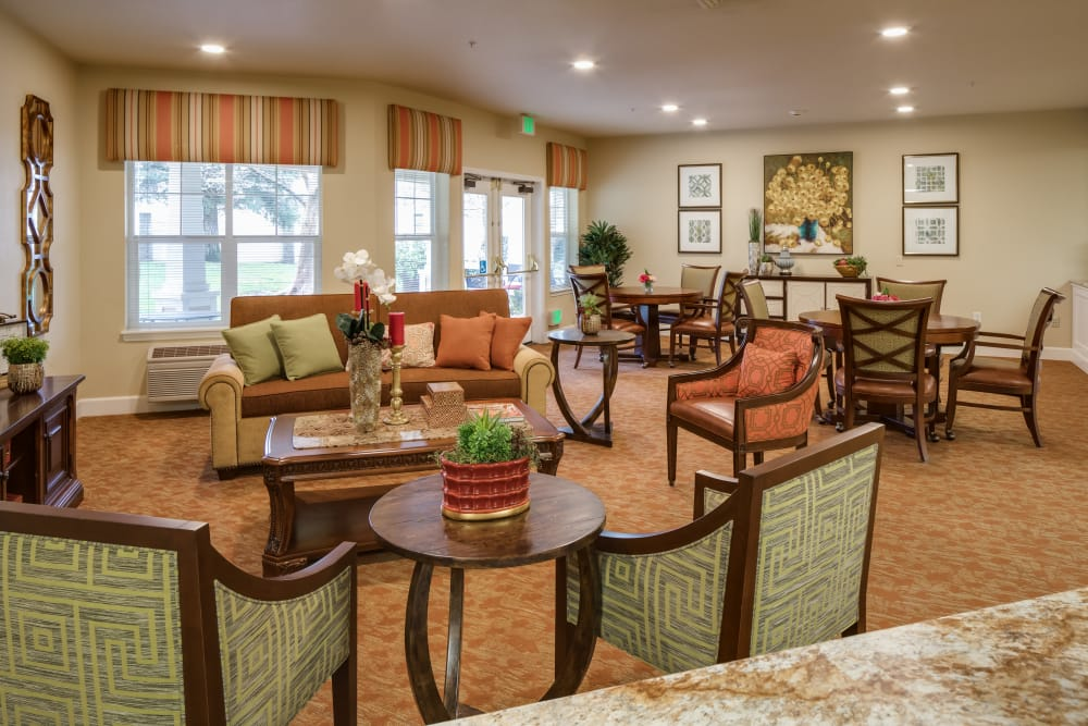 Common room at Dale Commons in Modesto, California